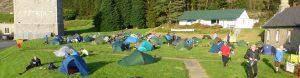 Sunny campsite