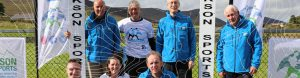 Mourne Mountain Marathon Committee Members with contour lines
