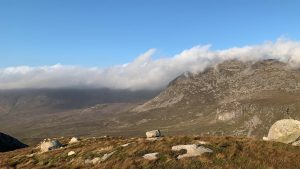 View of Mournes with Cloud on top
