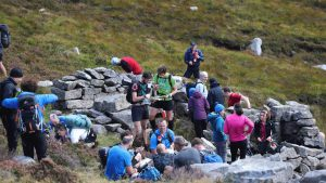 Competitors at checkpoint in Mourne Mountains