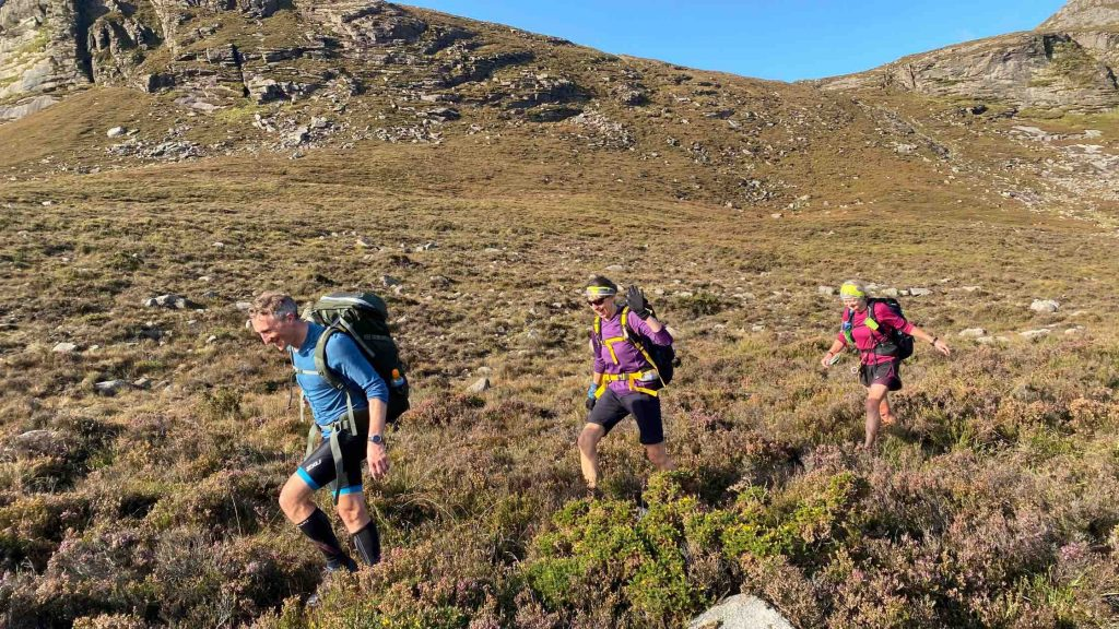 Competitors out on the hills